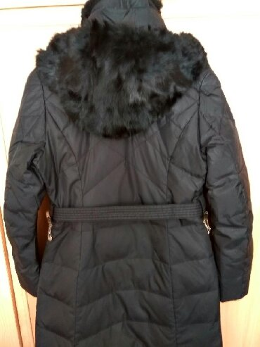 Удлиненная женская куртка, пуховик, размер 44-46-48,S, меховой