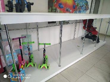 шредеры 16 в Кыргызстан: Продается торговое оборудование под коляски. Двух этажная полка+ 2