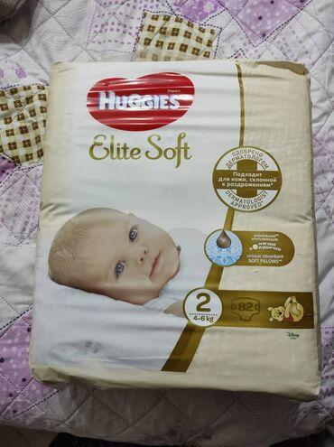 """huggies elite soft в Кыргызстан: Продаю Памперс """"Elite Soft"""" размер -2 (4-6 кг) 1 пачка -82шт"""
