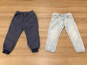 Helanke farmerke - Srbija: Zara za devojcice br92 (1,5-2god) sa elastinom i gumom za podsavanje u