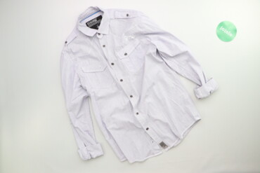 Чоловіча сорочка у смужку DenimCo р. М    Довжина: 67 см Ширина плечей