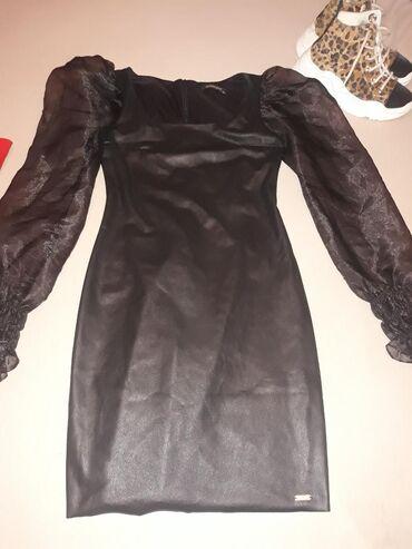 Haljine | Leskovac: Nova kozna haljina sa tilom