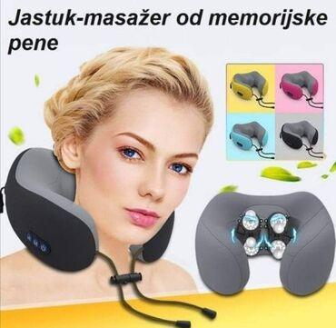 Jastuk masažer od memorijske pene, za putovanja i relaksaciju kod