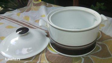 Prelepa porcelanska serpica za serviranje, bez oštećenja  - Cuprija