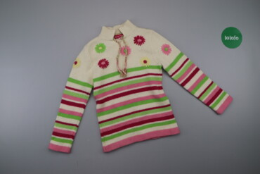 Дитячий яскравий светр у смужку, вік 6 р.    Довжина: 51 см Ширина пле