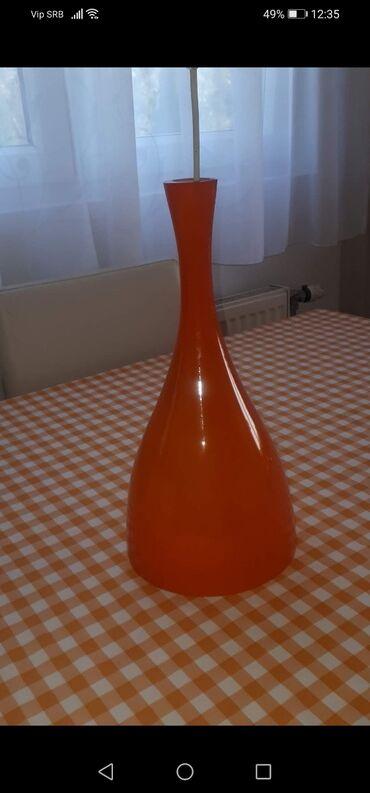 Lusteri stakleni, narandžasti visoki sjaj, beli mat. Kao NOVI jako