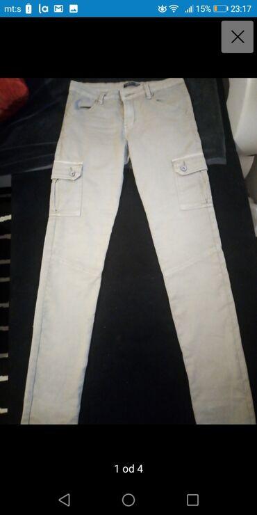 Farmerki pantalone - Srbija: Nove farmerke pantalone 40 vel sa dzepovima