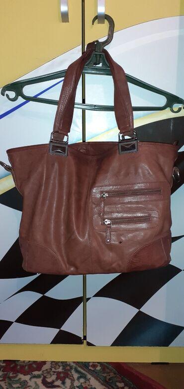 Личные вещи - Орловка: Натуральная кожаная сумка! Состояние 100% на 90%