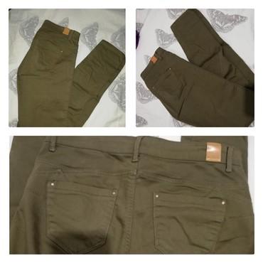 Pantalone zelene broj - Srbija: Maslinasto zelene pantalone br 38. Pull&Bear. Push up pantalone