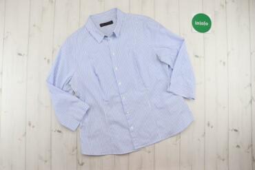 Рубашки и блузы - Цвет: Голубой - Киев: Жіноча сорочка у смужку M&S, р. XXL   Довжина: 64 см Ширина плеча