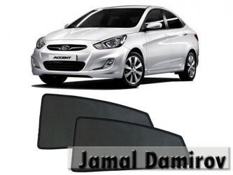 Bakı şəhərində Hyundai Accent 2011-2016 üçün yan pərdələr.