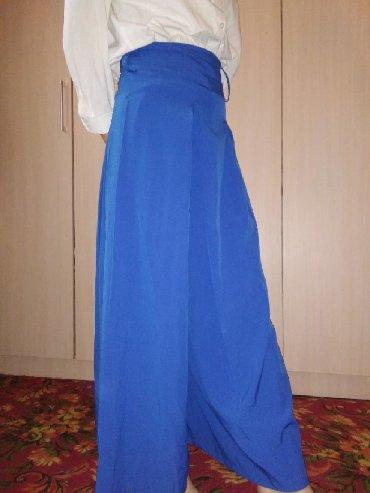 синяя юбка в Кыргызстан: Юбка брючки длиннаясиняя Турция