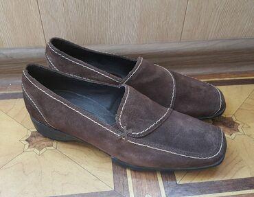 Туфли Германия замш темно коричневый Новые размер 39 мягкие и удобные