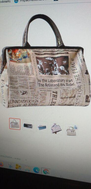 2019 HOT Fashion γυναικεία τσάντα ρετρό εφημερίδα εκτύπωσης τσάντα