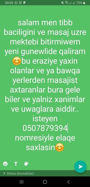 İş - Azərbaycan: Yalniz xanimlar.ve uwaglara aiddir ve ancag ciddi wexsler elaqe