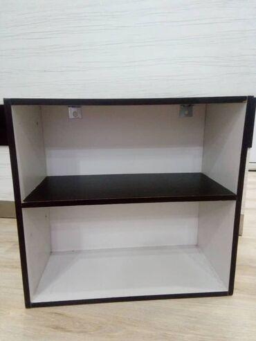 Настенный шкаф для книг или посуды, цветы венге с белым, Габариты