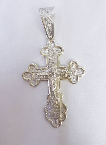 Православный крест из серебра. 925 проба. Новый