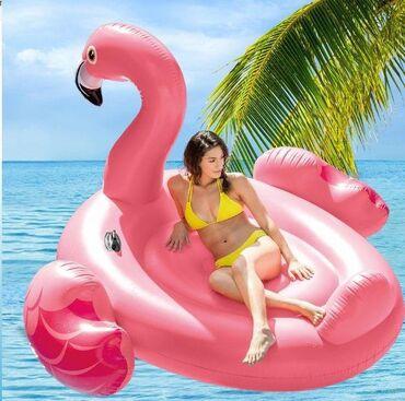 Надувной плотик Фламинго 218х211х136 см Intex Новинка лета 2021 г