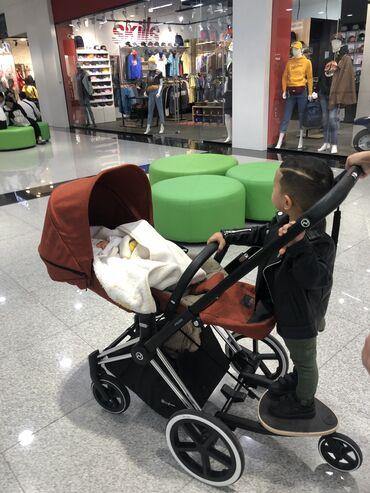 прогулочную коляску лёгкая и удобна в Кыргызстан: Продам коляску cybex есть дополнительная подножка для старшего ребёнка