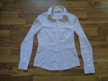 женские рубашки в клетку в Азербайджан: Белая рубашка   размер 36  Длина от плеч 60 см  Длина рукава 61 см