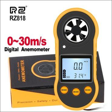 Bakı şəhərində Anemometr RZ 818. Küləyin sürətini ölcən portativ cihaz.