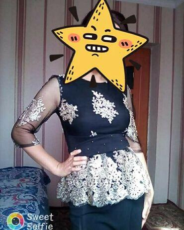 Женская одежда - Кызыл-Туу: Продаю шикарное платье, длина в пол, размер 44-46. Или обмен на что