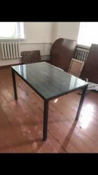 стол стеклянный в Кыргызстан: Продаю стол ротанговый Б/У 4х местный в комплекте так же идет