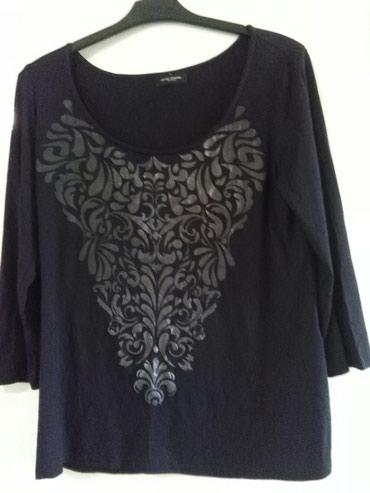 Tunika za krupnije dame,materijal rastezljiv,crno sa srebrnim - Sombor