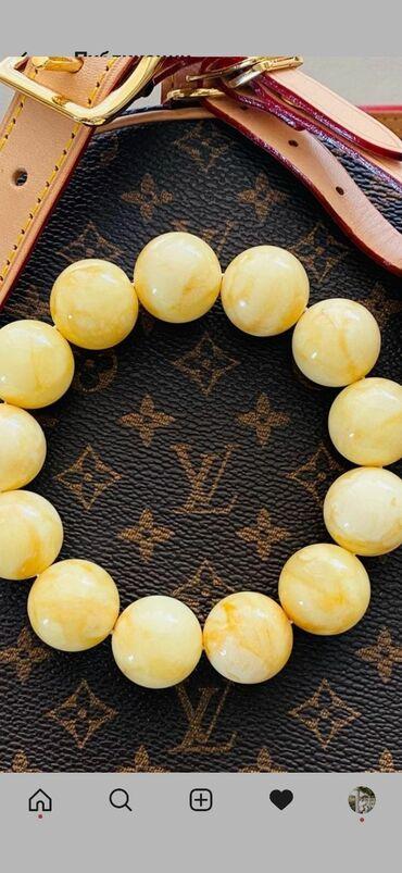 браслет пандора бишкек in Кыргызстан | БИЛЕРИКТЕР: Продаю браслет, королевский янтарь крупный,новый.Без торга!!!