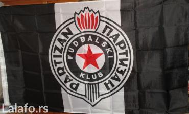 Partizan - Srbija: Zastava fudbalskog kluba Partizan,odlična za utakmice a može i za