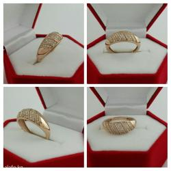 Кольцо с бриллиантами золото 585 пробы. в Бишкек