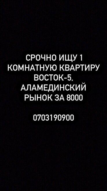 квартира на долгий срок в Кыргызстан: Сниму одна квартиру за 8000 сом на долгий срок На районе Аламединский