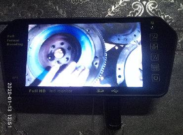 Mashin ucun Full HD monitor.MP5[TEZE]Kamera,Kart,Usb qowulur.Sesi в Bakı