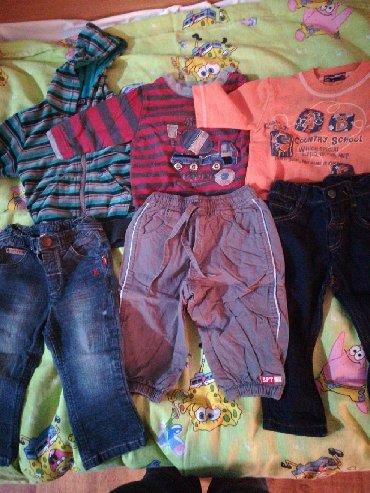 Dečija odeća i obuća - Rumenka: Tri kompleta za dete od 12 do 18 meseci