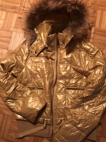 Perjana jakna (pravo perje) sa pravim krznom, kapuljaca se skida - Belgrade