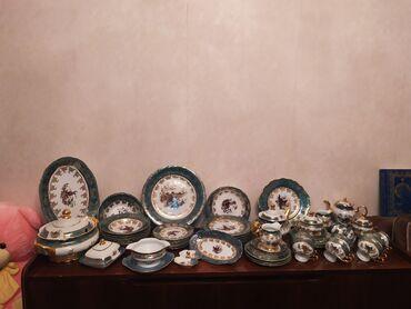 Çexslavakiya istehsalı Axotnik 6 neferlik nahar,çay ve kofe desti.Teze