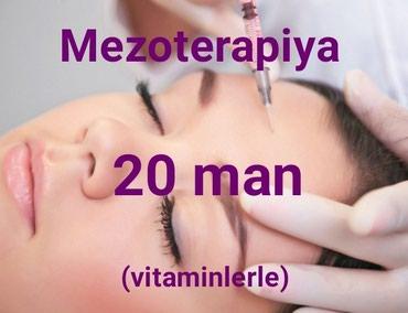 Bakı şəhərində Vitaminlerle zengin preparatlar ile uzun mezoterapiyasi.