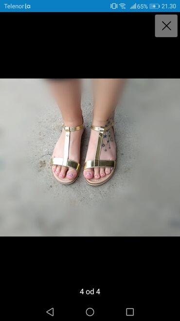 Posao u inostranstvu - Srbija: Prelepe lagane zlatne sandale kupljene u inostranstvu promasen