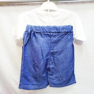 летние шорты в Кыргызстан: Летний костюм на мальчика - прелестный набор из футболки и