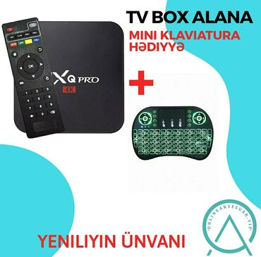 android tv в Азербайджан: Kampaniya Android Tv box 4GB/64GB Alana mini klaviatura