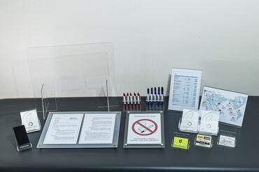 Reklamiranje, štampanje - Srbija: Zastitna pregrada izradjena od providnog pleksiglasa debljine 3mm i