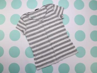 Женская футболка в полоску LC Waikiki, р. М    Длина: 62 см Пог: 45 см