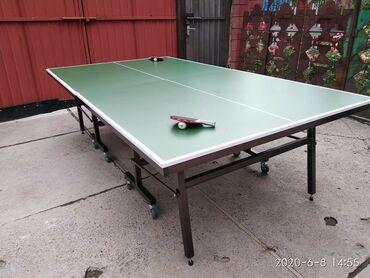 купить теннисный стол в Кыргызстан: Теннисный стол удобный для хранения.легко устанавливается в игровое