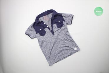 Топы и рубашки - Синий - Киев: Дитяча футболка поло у смужку Street Gang, вік 9 р., зріст 134 см    Д