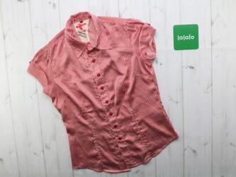 Женская рубашка в полоску Длина: 55 см Плечи: 34 см ПОг: 40 см Материа
