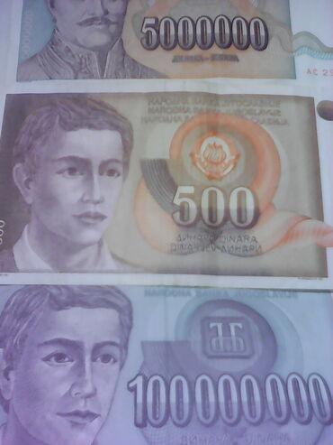 Novčanice iz vremena hiper inflacije 1500 din sve ove novčanice