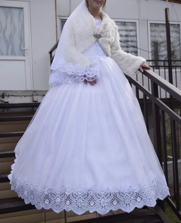 Свадебные платья и аксессуары - Бишкек: Свадебное платье. Один раз одевала очень хорошее
