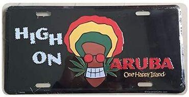 Metalni znak High on Aruba u solidnom stanju, samo je stajao na