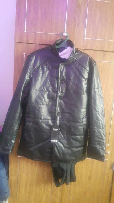 куртка мужская под кожа размер 4x в Ош
