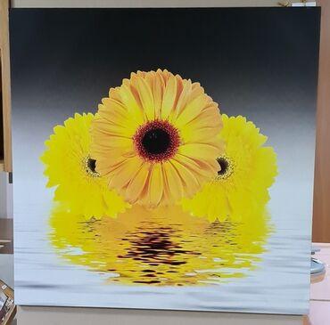 """цветы для украшения в Кыргызстан: Картина """"Цветы желтые""""-декоративная для украшения любой стены, размер"""